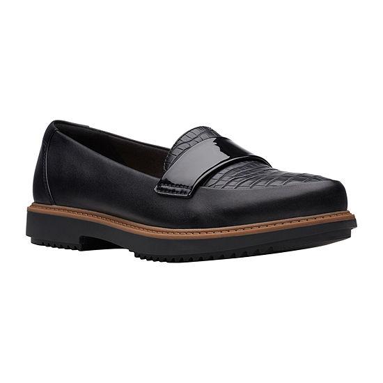 Clarks Womens Raisie Arlie Slip-On Shoe Closed Toe