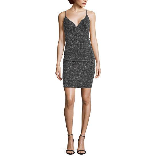 Emarld Sundae-Juniors Sleeveless Bodycon Dress