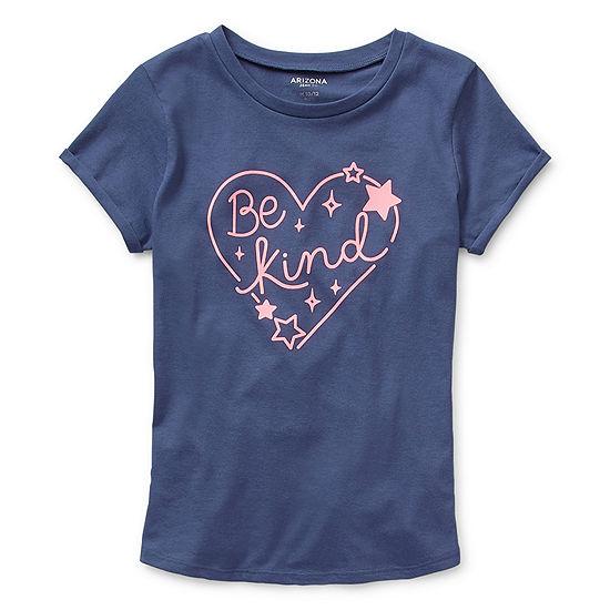 Arizona Girls Round Neck Short Sleeve Graphic T-Shirt - Preschool / Big Kid