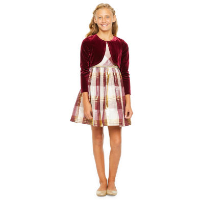 Bonnie Jean Girls 2-pc. Jacket Dress