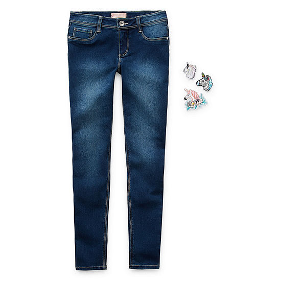 Squeeze Big Kid Girls Mid Rise Skinny Fit Jean