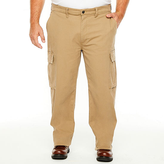 The Foundry Big & Tall Supply Co. Mens Mid Rise Regular Fit Cargo Pant - Big and Tall