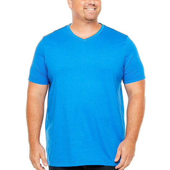 The Foundry Big & Tall Supply Co.-Big and Tall Mens V Neck Short Sleeve T-Shirt