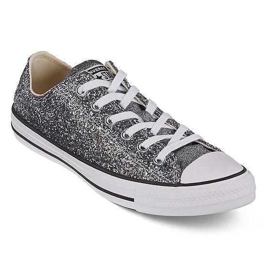converse all star glitter silver