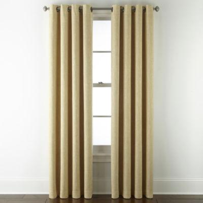 JCPenney Home Sullivan Blackout Grommet-Top Single Curtain Panel