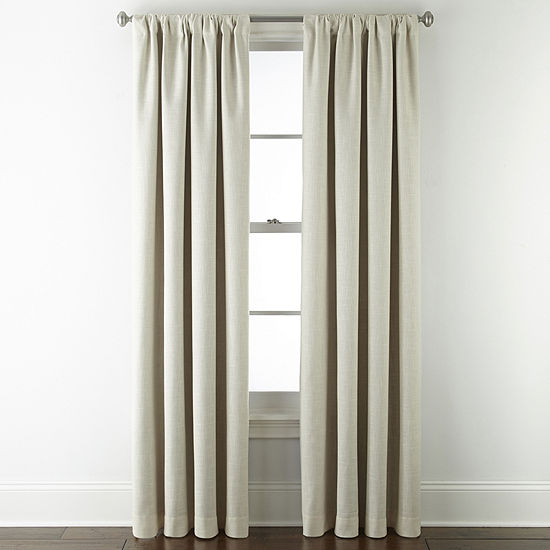 JCPenney Home Sullivan Energy Saving Blackout Back-Tab Single Curtain Panel