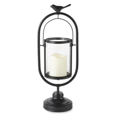 JCPenney Home Matte Black Led Bird Decorative Lantern
