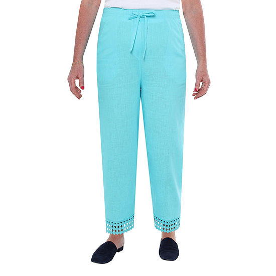 Cathy Daniels Linen Womens Regular Fit Ankle Pant