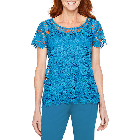 Hearts Of Palm Global Soul-Womens Round Neck Short Sleeve T-Shirt