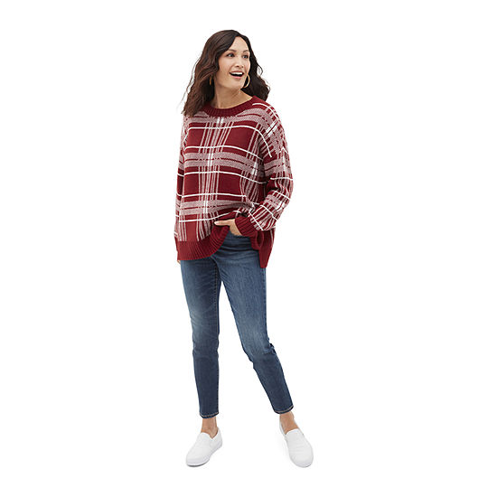 Shop the Look: St. Johns Bay Plaid Sweater with Jeans