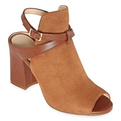 Andrew Geller Womens Bella Pumps Block Heel