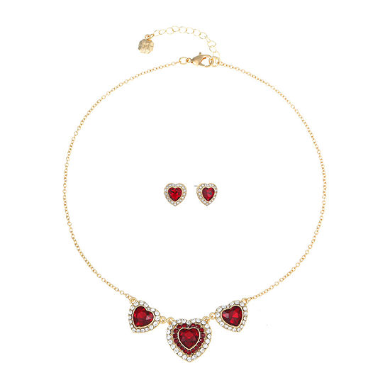 Monet Jewelry 2-pc. Red Heart Jewelry Set