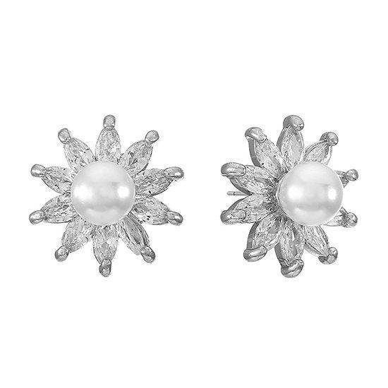 Monet Jewelry Cubic Zirconia 13mm Stud Earrings