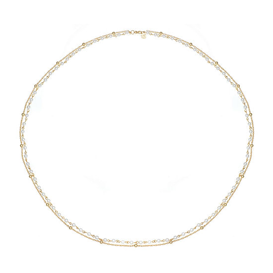 Monet Jewelry White 38 Inch Rope Strand Necklace