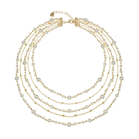 Monet Jewelry White 17 Inch Cable Strand Necklace