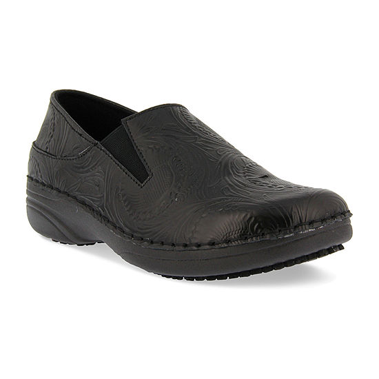 Spring Step Professionals Womens Spring Step Professional Manila-Tooling Slip-On Shoe Round Toe