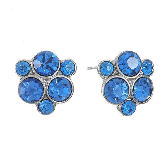 Monet Jewelry Blue 15.5mm Stud Earrings