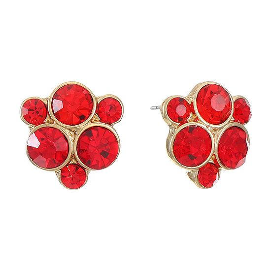 Monet Jewelry Red 15.5mm Stud Earrings