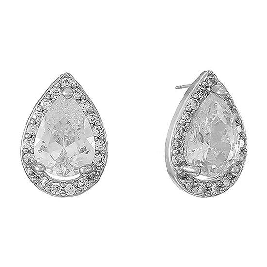 Monet Jewelry Cubic Zirconia 11mm Stud Earrings