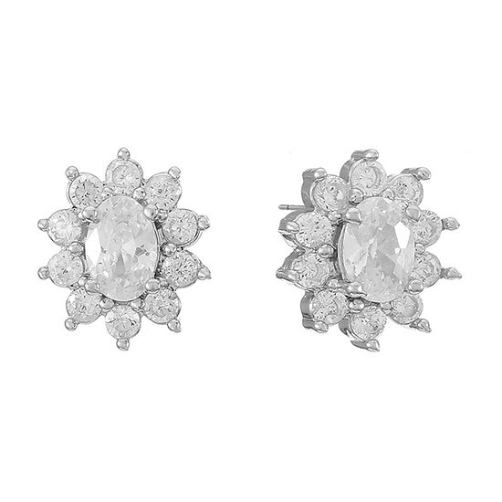 Monet Jewelry Cubic Zirconia 11mm Stud Earrings