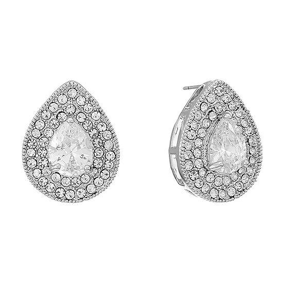 Monet Jewelry Cubic Zirconia 18mm Stud Earrings