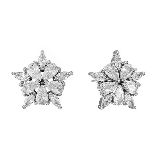 Monet Jewelry Cubic Zirconia 15mm Stud Earrings