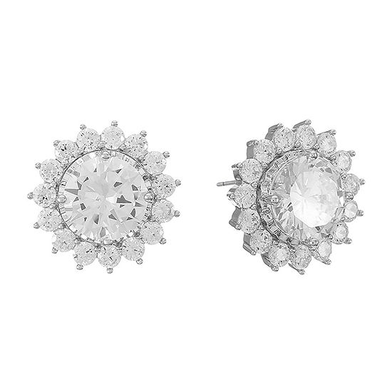Monet Jewelry Cubic Zirconia 14mm Stud Earrings