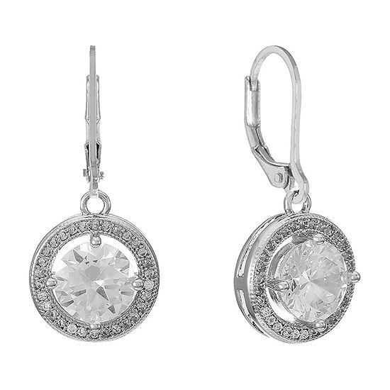 Monet Jewelry 1 Pair Cubic Zirconia Drop Earrings