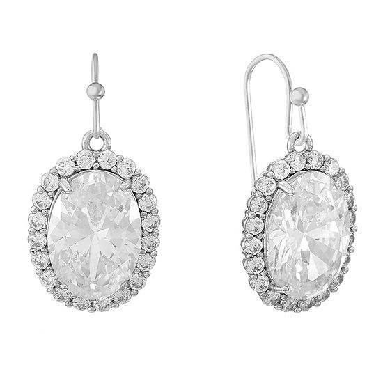 Monet Jewelry 1 Pair Cubic Zirconia Drop Earrings