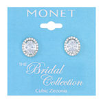 Monet Jewelry 1 Pair Cubic Zirconia Clip On Earrings