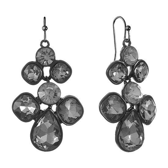Monet Jewelry Gray Drop Earrings