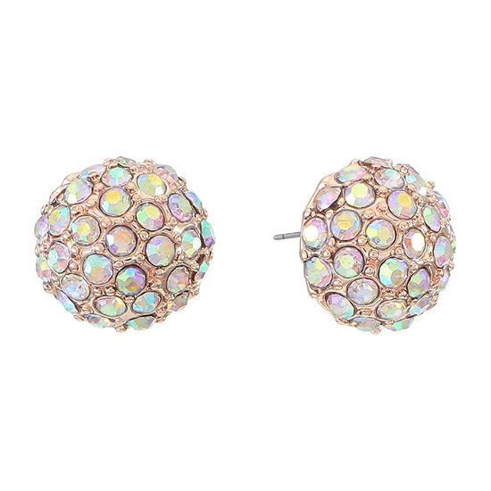 Monet Jewelry Simulated White 10mm Stud Earrings