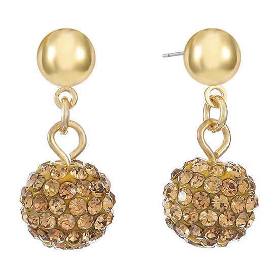 Monet Jewelry 1 Pair Brown Drop Earrings