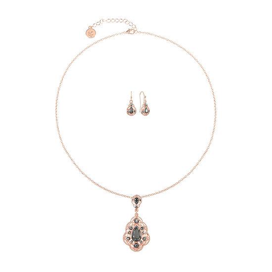 Liz Claiborne 2-pc. Gray Jewelry Set