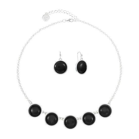 Liz Claiborne 2-pc. Black Jewelry Set