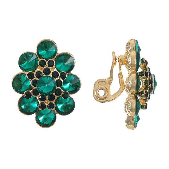 Monet Jewelry 1 Pair Green Clip On Earrings