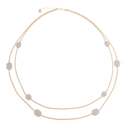 Monet Jewelry Womens Silver And Goldtone Station Necklace