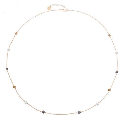 Liz Claiborne Womens Long Ball Necklace Multi Goldtone