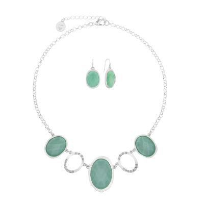 Liz Claiborne Womens 2-pc. Green Jewelry Set