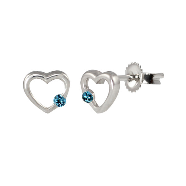 Round Blue Blue Topaz Sterling Silver Stud Earrings