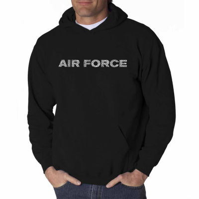 Los Angeles Pop Art Lyrics to the Air Force Song Long Sleeve Word Art Hoodie