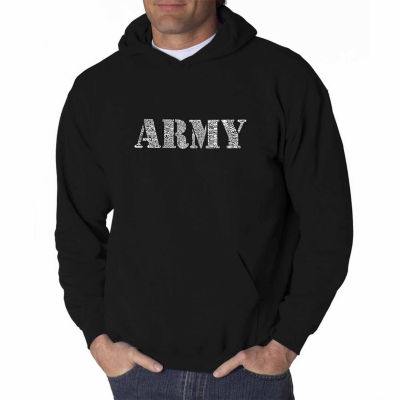 Los Angeles Pop Art Lyrics to the Army Song Long Sleeve Word Art Hoodie