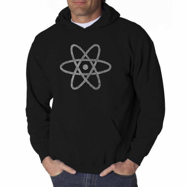 Los Angeles Pop Art Atom Long Sleeve Word Art Hoodie