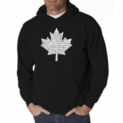 Los Angeles Pop Art Canadian National Anthem LongSleeve Word Art Hoodie