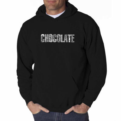 Los Angeles Pop Art Different Foods Made With Chocolate Long Sleeve Word Art Hoodie