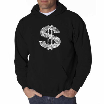 Los Angeles Pop Art Dollar Sign Long Sleeve Word Art Hoodie