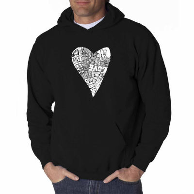Los Angeles Pop Art Lots of Love Long Sleeve WordArt Hoodie