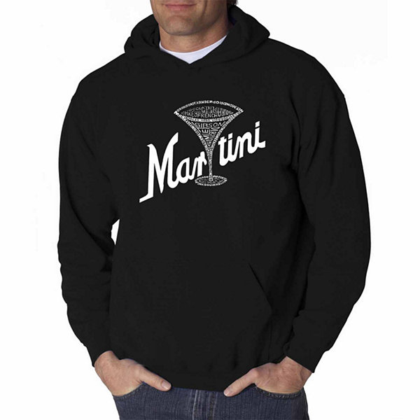 Los Angeles Pop Art Martini Long Sleeve Word Art Hoodie