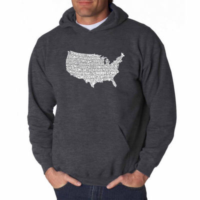Los Angeles Pop Art the Star Spangled Banner LongSleeve Word Art Hoodie