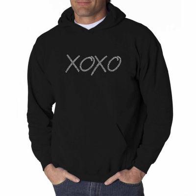 Los Angeles Pop Art Xoxo Long Sleeve Word Art Hoodie